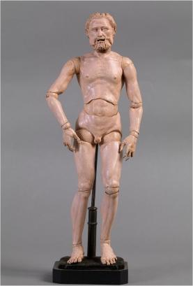 Alberto Durero (1471-1528), atrib. Maniquí articulado, c. 1525. Museo Nacional del Prado (Madrid)